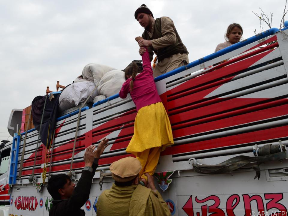 Anhaltende Flüchtlingsbewegungen aus Afghanistan