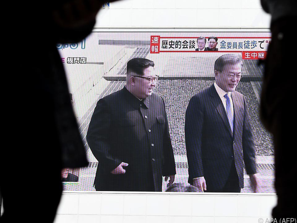 Annäherung Nord- und Südkorea wird von allen Seiten beobachtet