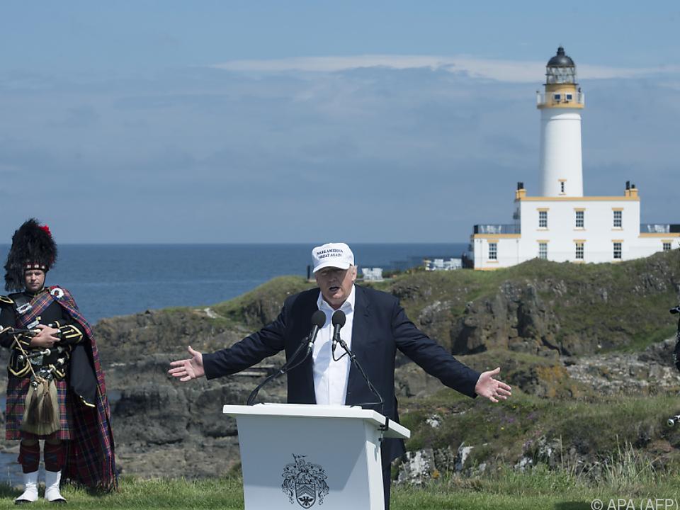 Auch in Schottland hielt Trump seine Versprechen nicht