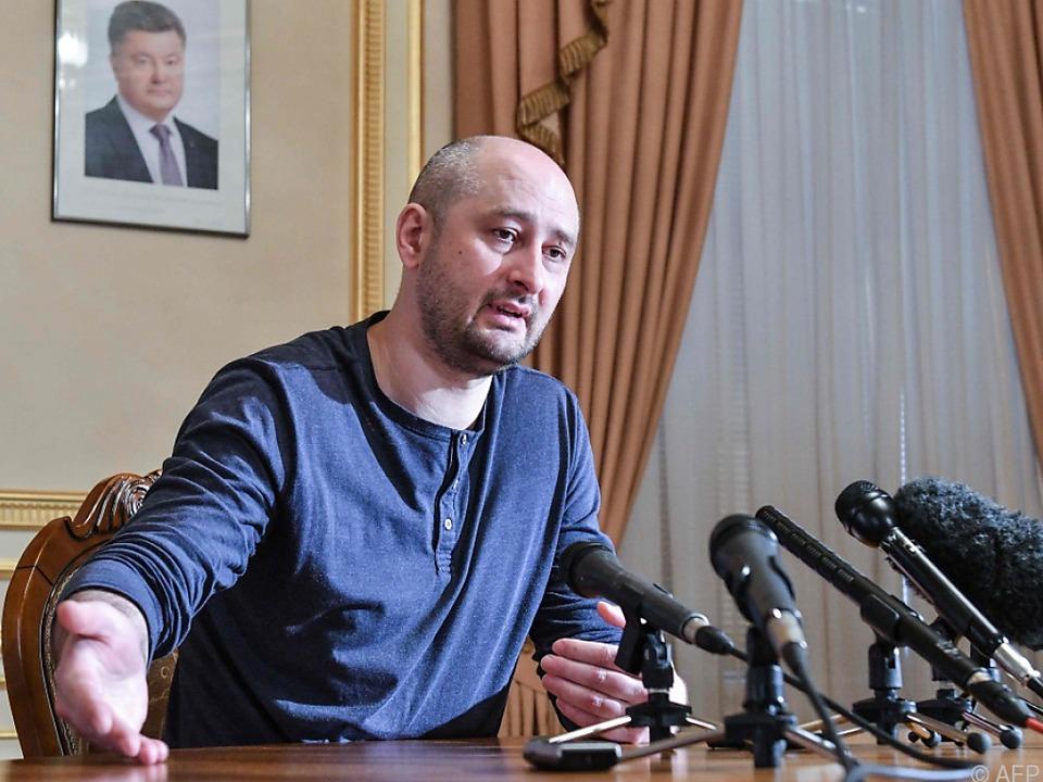 Babtschenko sprach in Kiew vor Medienvertretern
