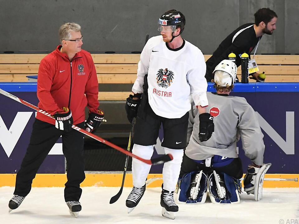 Bader und Raffl beim ersten Training mit dem NHL-Legionär