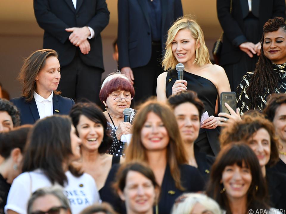 Cate Blanchett verlas am roten Teppich die Forderungen
