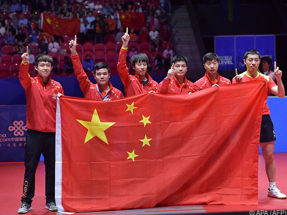 China dominiert weiterhin das Welt-Tischtennis