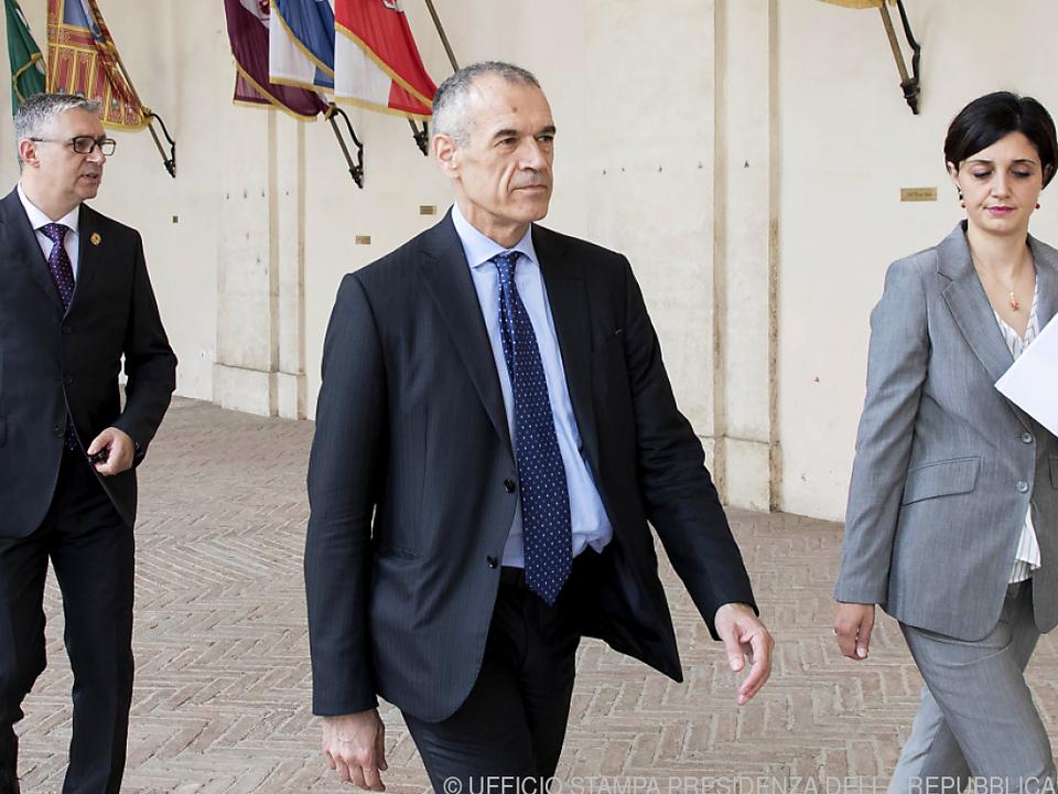 Cottarelli soll nun eine Regierung auf die Beine stellen
