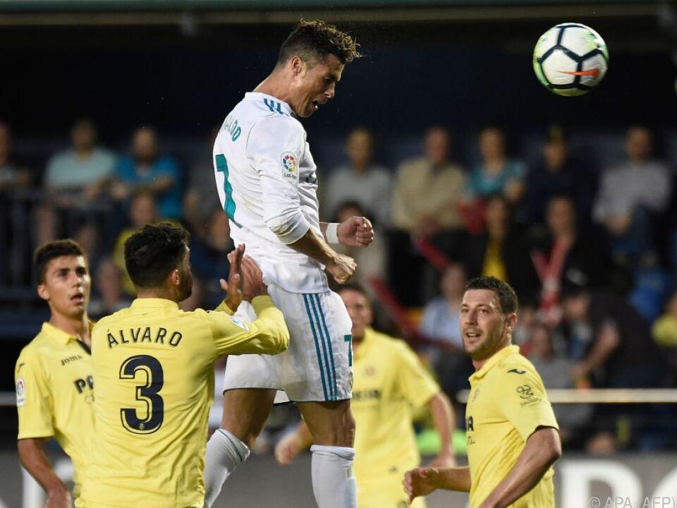 Cristiano Ronaldo traf per Kopf