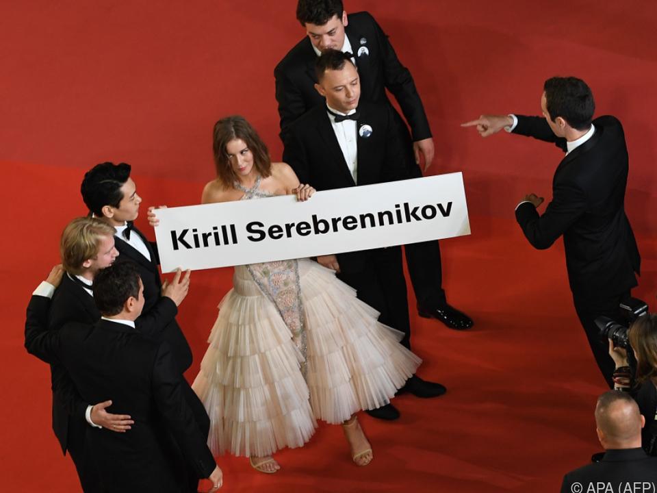 Das russische Filmteam erinnerte an den Kollegen