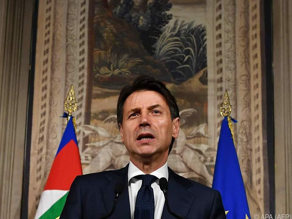 Der designierte Regierungschef Giuseppe Conte gibt auf