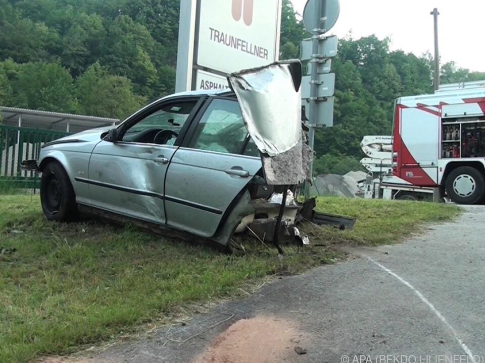 Der Fahrer hatte Glück im Unglück