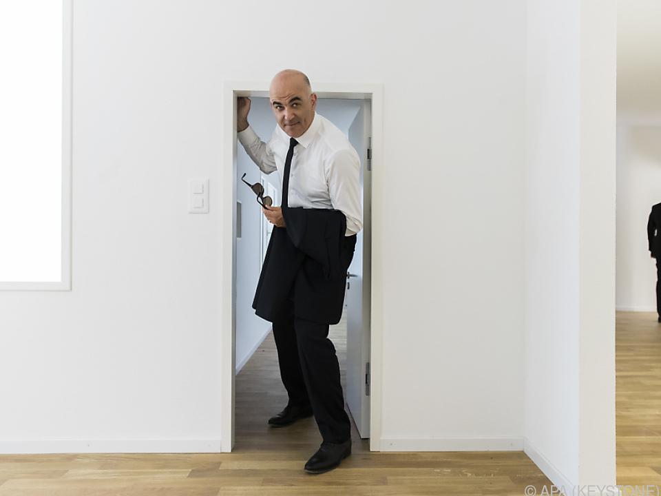 Der Schweizer Bundespräsident besichtigte den Pavillon bereits