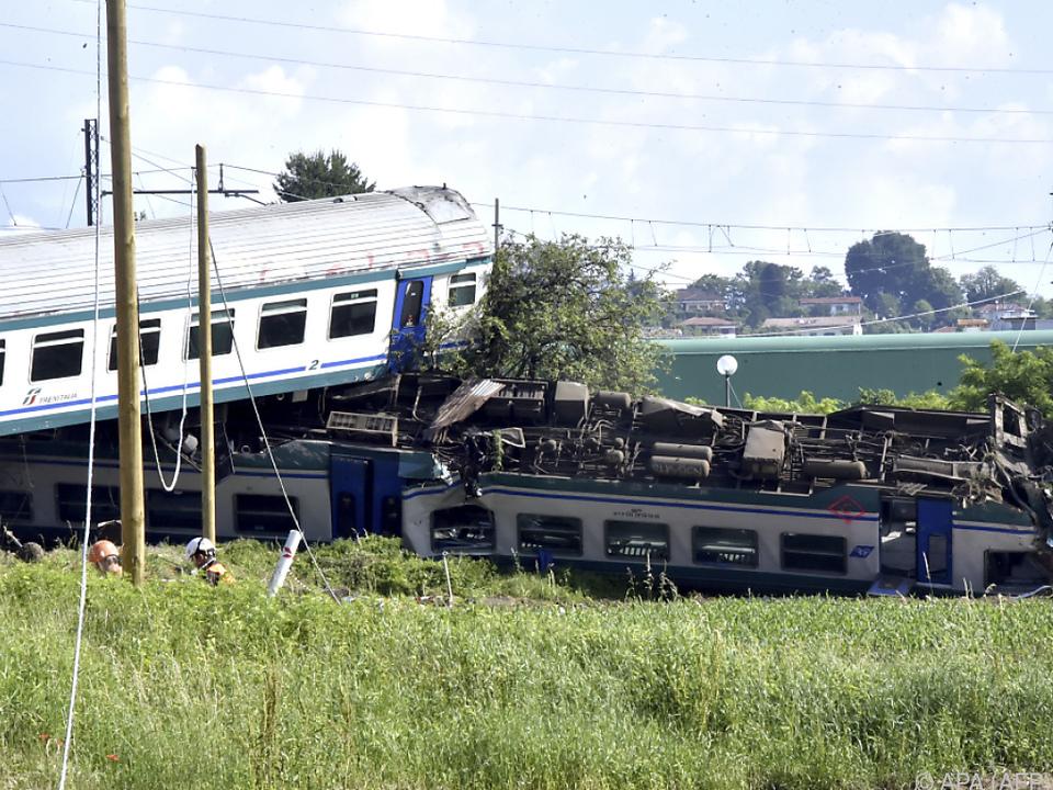 Der Zug entgleiste in der Nacht auf Donnerstag bei Turin