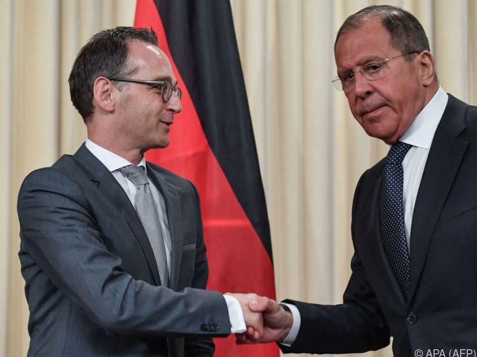 Deutschlands Außenminister Maas zu Besuch bei Amtskollegen Lawrow