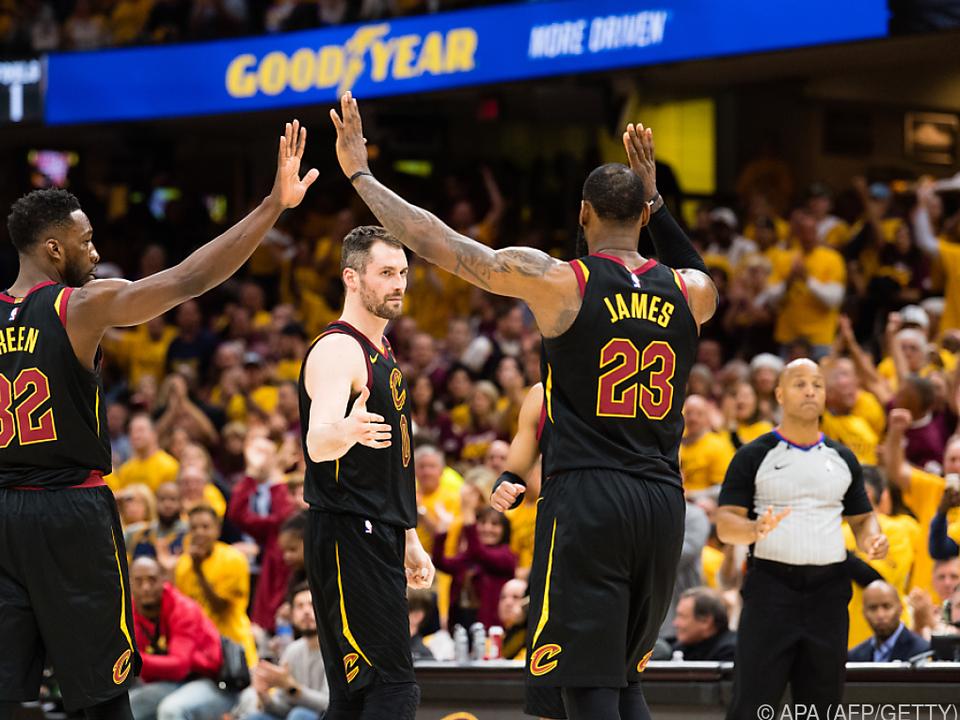Die Cavaliers kamen in nur vier Spielen in die nächste Runde