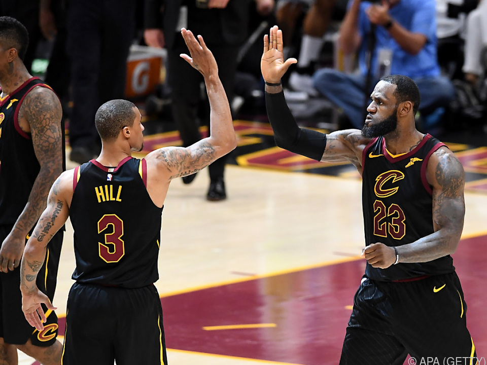 Die Cleveland-Spieler freuen sich über den Ausgleich