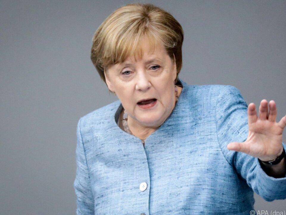Die deutsche Kanzlerin will eine \