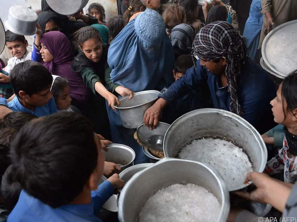 Die Menschen sind vor den radikalislamischen Taliban geflohen