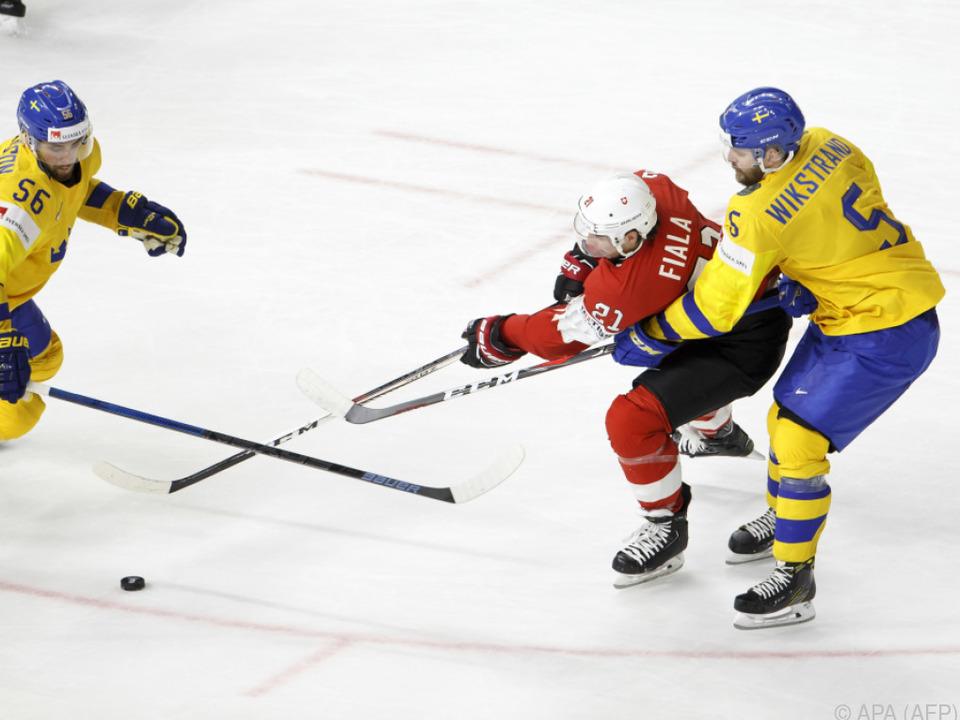 Die Schweden setzten sich gegen die Schweiz durch