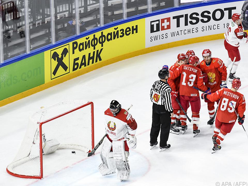 Die Weißrussen waren bisher nur die Watschenmänner der Gruppe A
