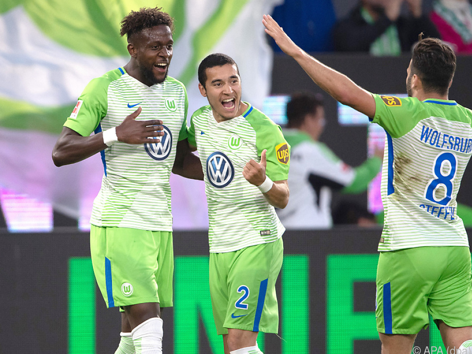 Die Wolfsburger freuen sich über eine gute Ausgangslage