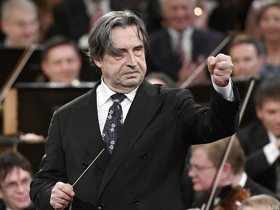 Dirigent Riccardo Muti ist mit dabei