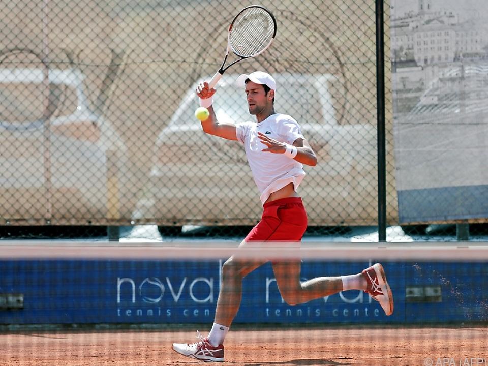 Djokovic feilt derzeit in Belgrad an seiner Form