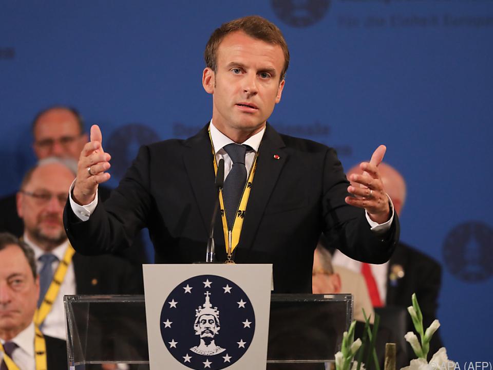 Emmanuel Macron mit Aachener Karlspreis ausgezeichnet