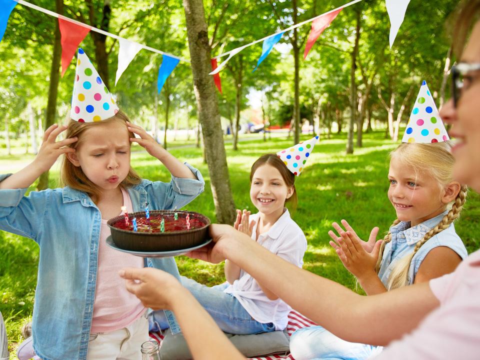 Kind Geburtstag Park