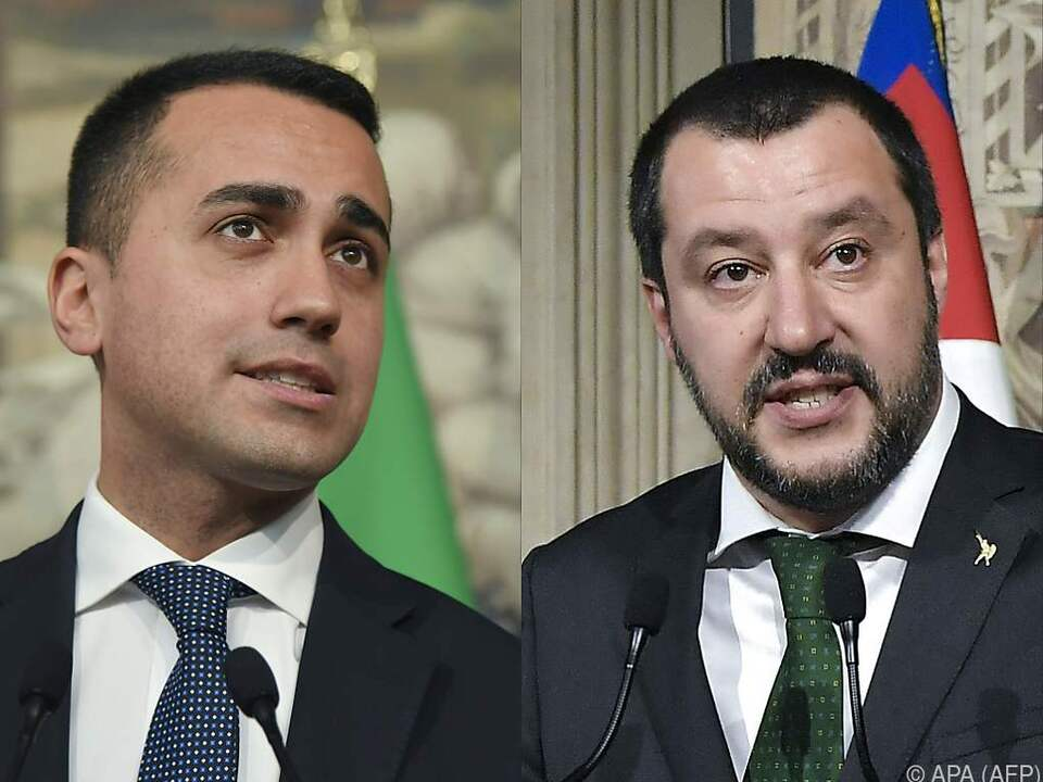 Fünf-Sterne-Chef Di Maio und Lega-Boss Salvini ringen um Einigung