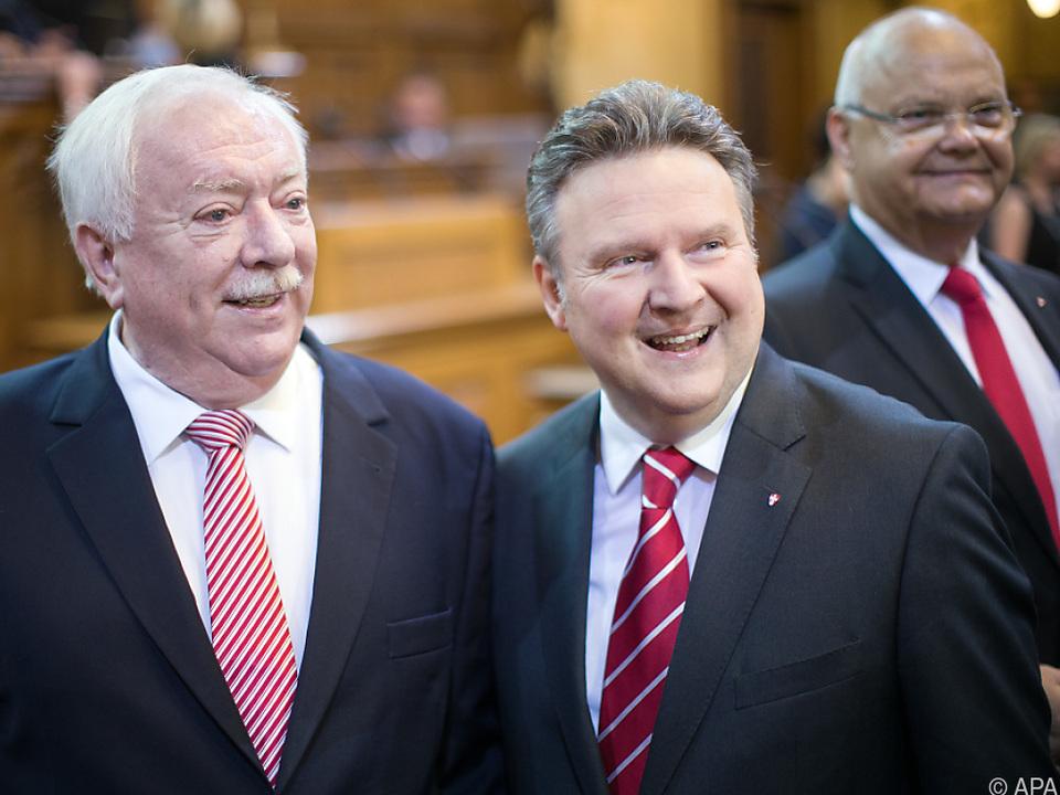 Häupl räumt für Ludwig (r.) den Chefsessel in Wien