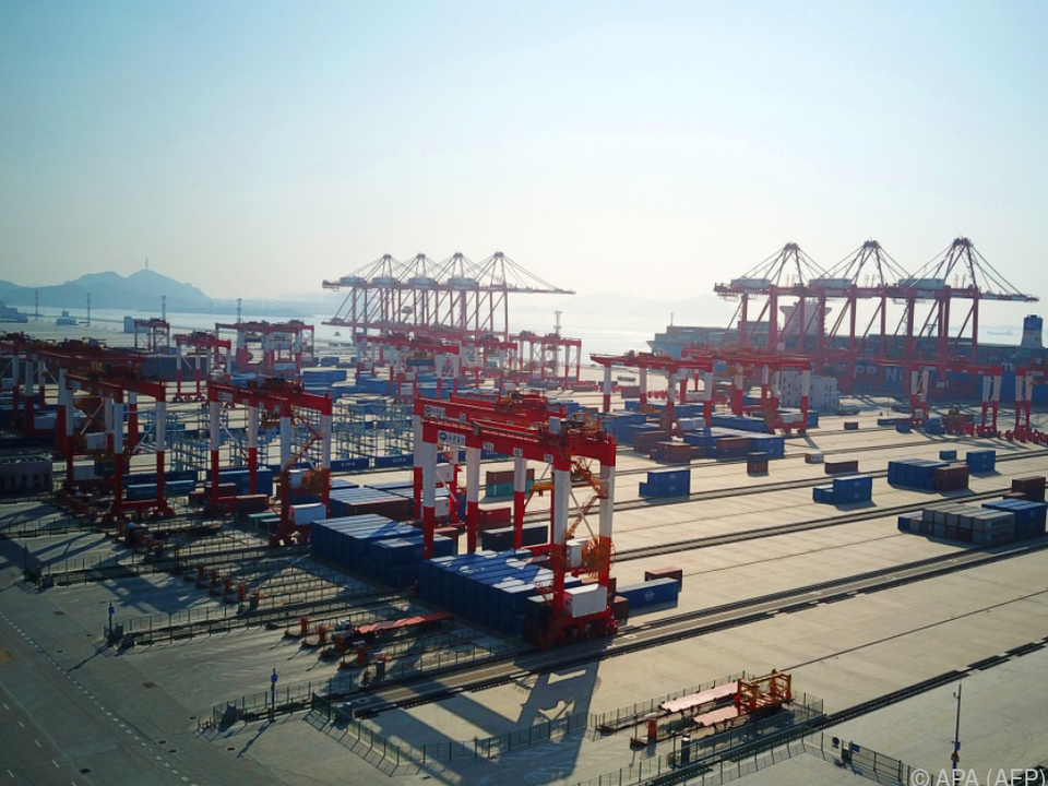 Hafen in Schanghai: China will mehr US-Waren importieren