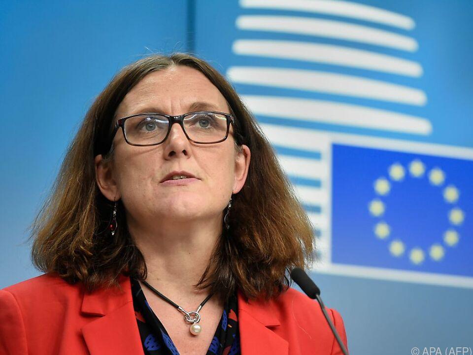 Handelskommissarin Cecilia Malmström wartet nun auf US-Entscheidung