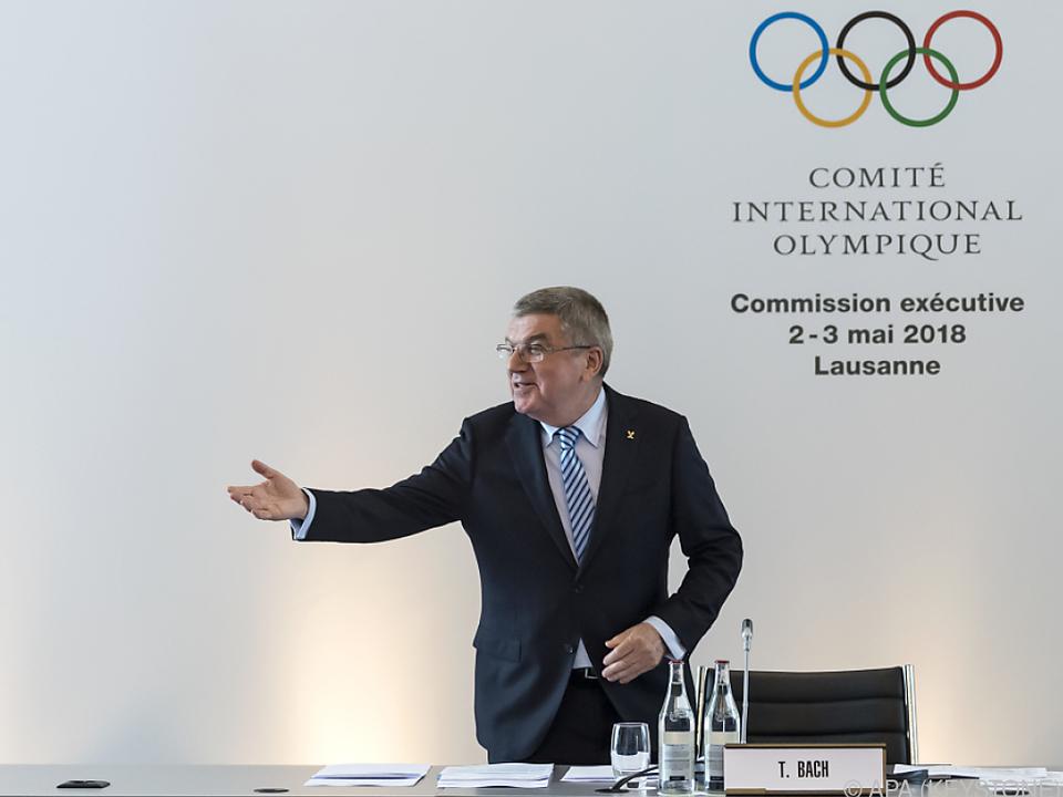 IOC-Chef Thomas Bach bei Exekutivkomitee-Meeting in Lausanne