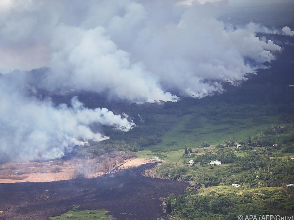 Kein Waldbrand: Vulkan Kilauea auf Big Island ist im Gange