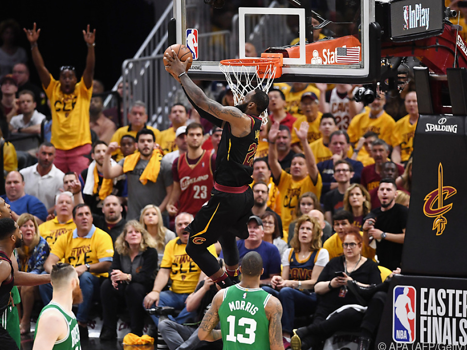 LeBron James schenkte den Celtics ordentlich ein
