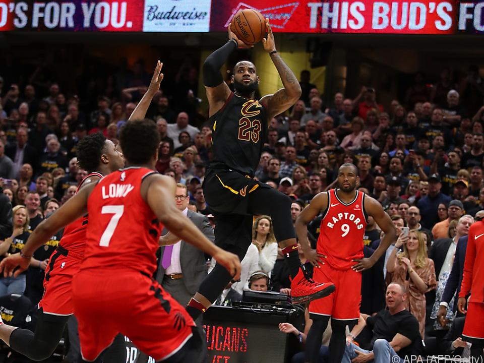 LeBron James steuerte 38 Punkte bei
