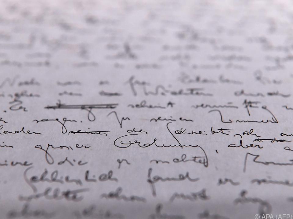 Letzte Kafka-Handschrift, die versteigert wurde, war \