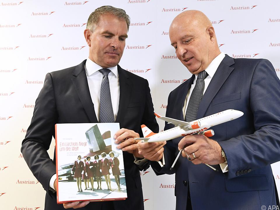 Lufthansa-Konzernboss Carsten Spohr und AUA-Chef Kay Kratky