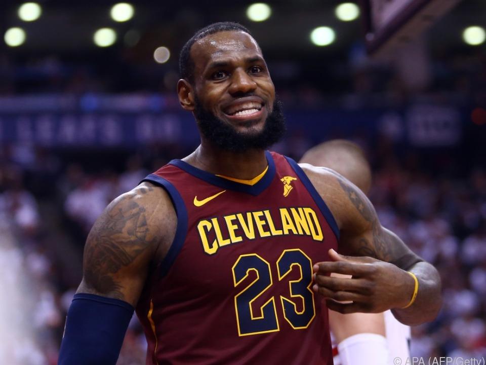 Megastar LeBron James führte Cleveland zum Sieg