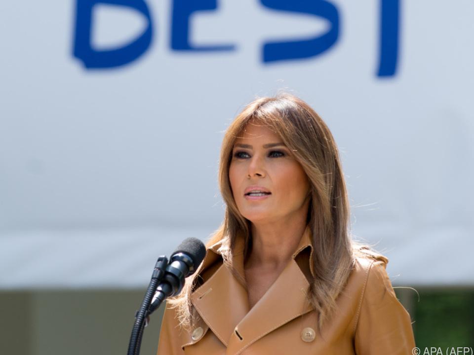 Melania Trump stellt ihre Initiative \