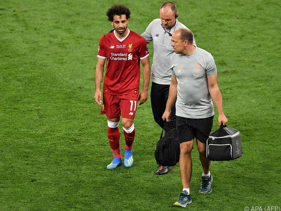 Mohamed Salah musste im CL-Finale verletzt vom Platz