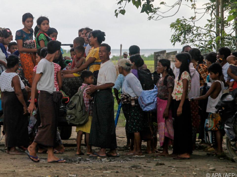 Myanmars Armee reagierte brutal mit Vertreibungsaktion