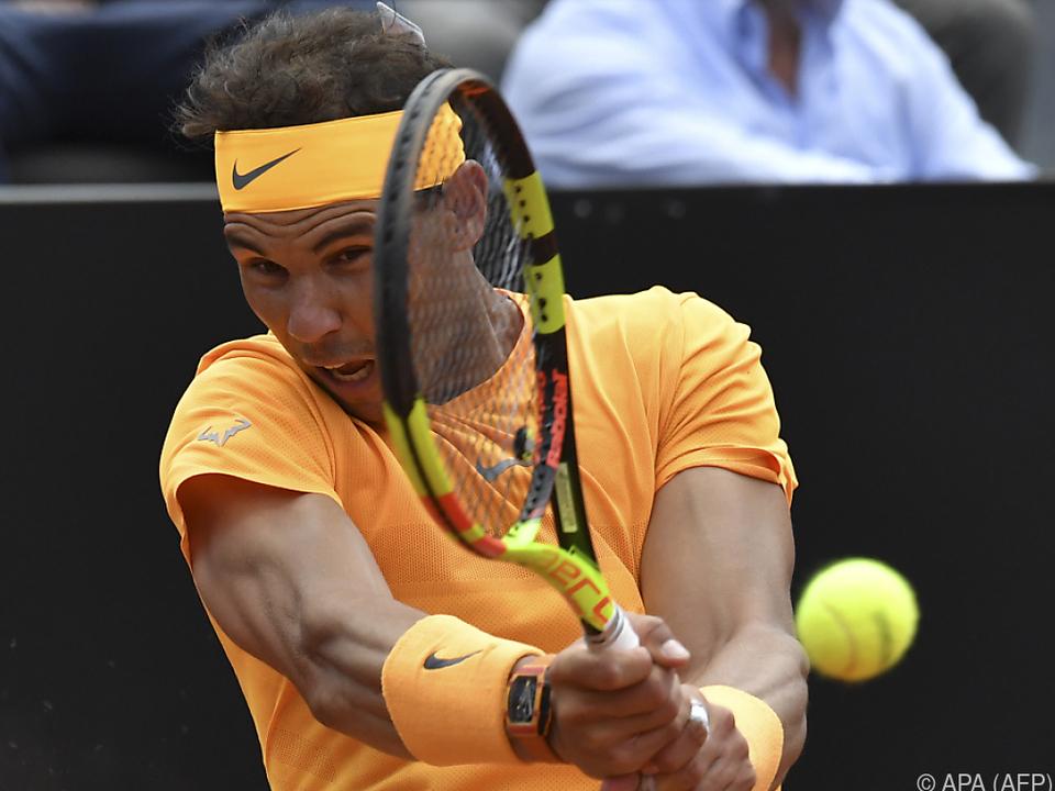 Nadal packt den Top-Spin-Hammer aus