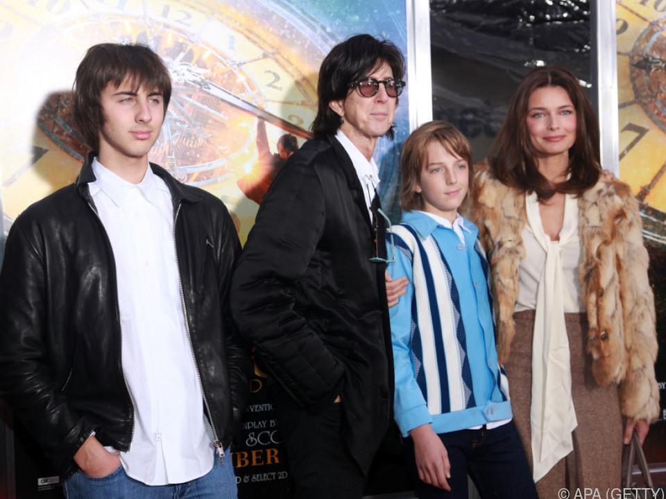 Ocasek vereint mit Frau Paulina und ihren gemeinsamen Kindern