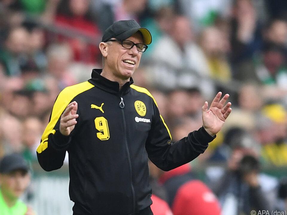 Peter Stöger kam in Dortmund nie richtig an, erreichte aber seine Ziele