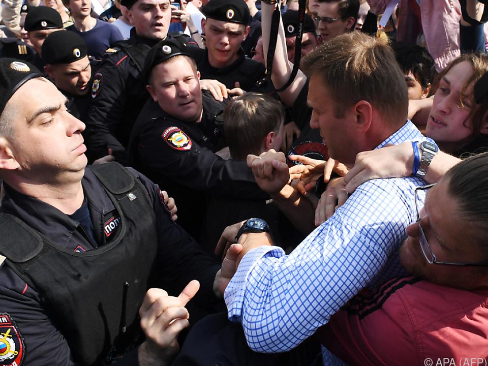 Polizei nimmt Oppositionellen Alexej Nawalny in Moskau fest