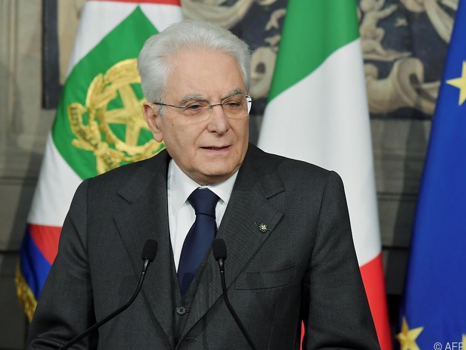 Präsident Sergio Mattarella startet am Montag mit den Konsultationen