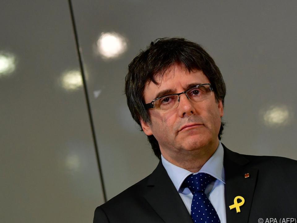 Puigdemont wird in Spanien Rebellion vorgeworfen