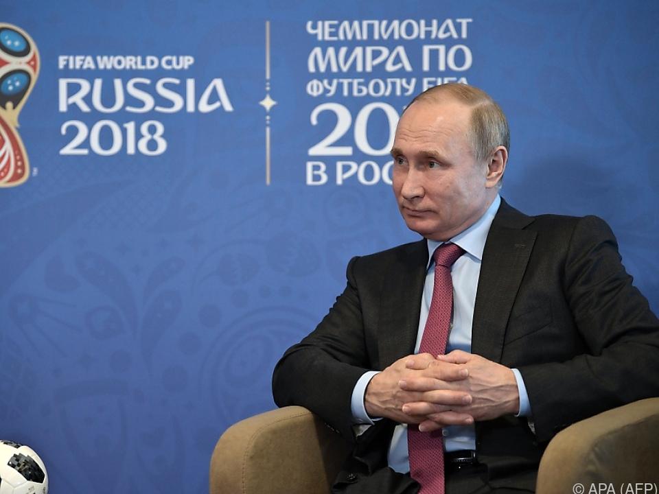 Putin hob die Fußballbegeisterung in Russland hervor