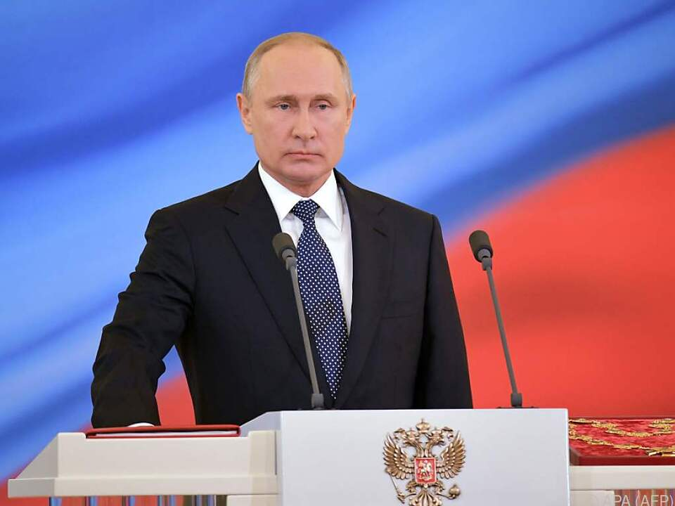 Putin versprach, dem Volk treu zu dienen