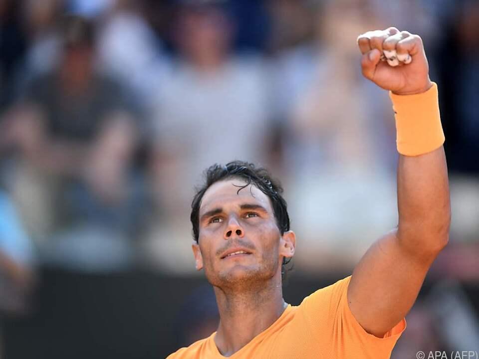 Rafael Nadal geht auf seinen nächsten Sandplatz-Turnersieg los