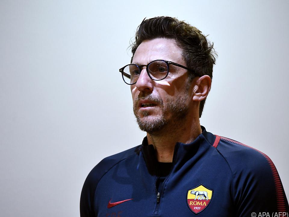 Roma-Coach Eusebio Di Francesco hofft auf eine Sensation